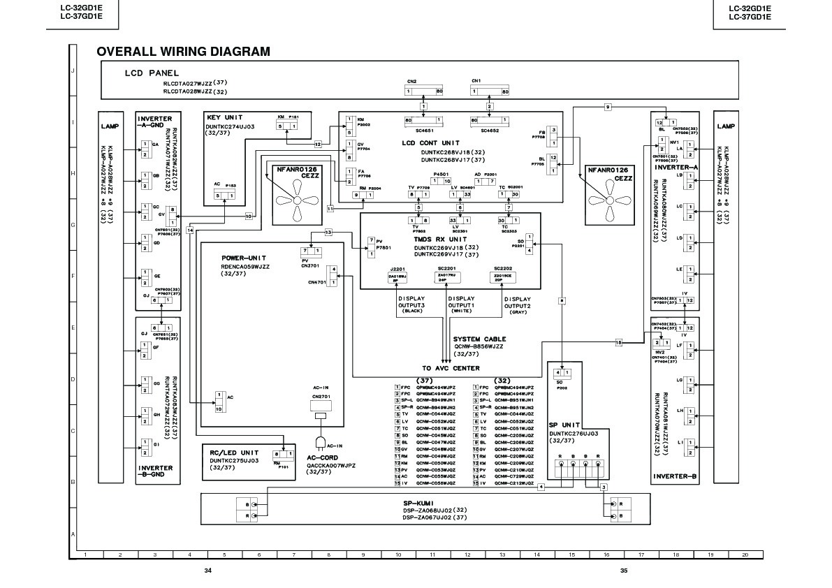 sharp lc-32gd1e  serv man20  service manual