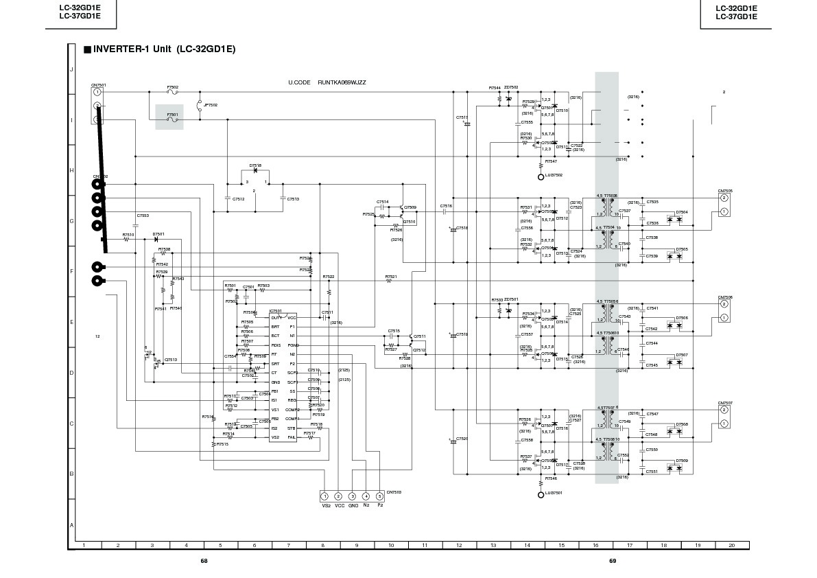 Sharp Lc 32gd1e Servman19 Service Manual Free Download Circuit Diagram Of An Inverter
