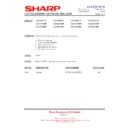 Sharp LC-32GD8EK (serv.man50) Technical Bulletin