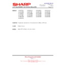 Sharp LC-32GD8EK (serv.man52) Technical Bulletin