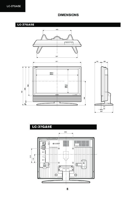 Sharp Lc-37ga5e  Serv Man3  Service Manual