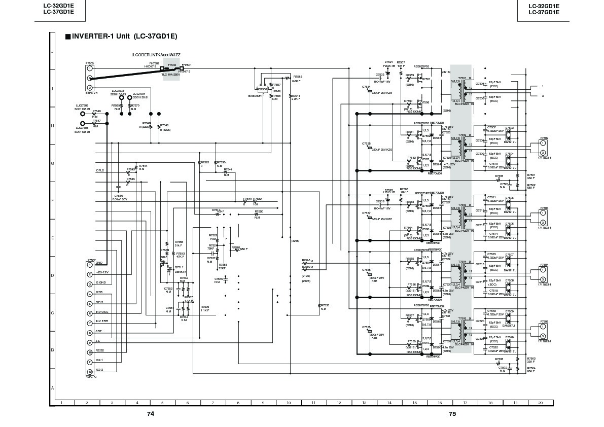 Sharp Lc 37gd1e Servman20 Service Manual Free Download Schematic Diagram Inverter Servman19