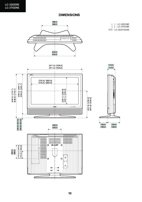 Sharp Lc-37gd9ek  Serv Man6  Service Manual