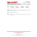 Sharp LC-37XD1E (serv.man17) Technical Bulletin