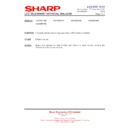 Sharp LC-37XD1E (serv.man19) Technical Bulletin