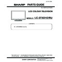 Sharp LC-37XD1EB (serv.man2) Parts Guide
