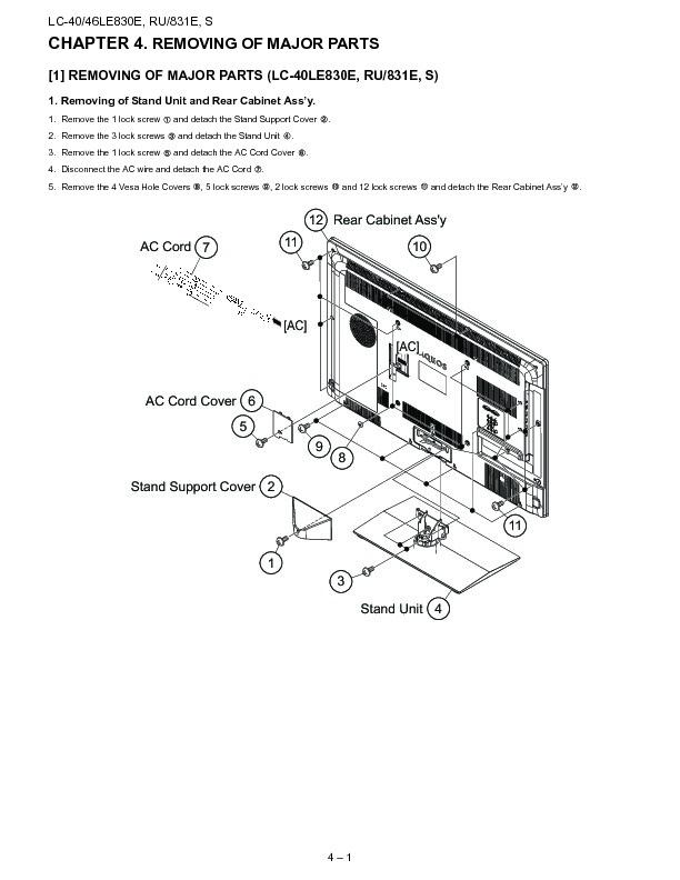 Sharp Lc-46le831e  Serv Man14  Service Manual
