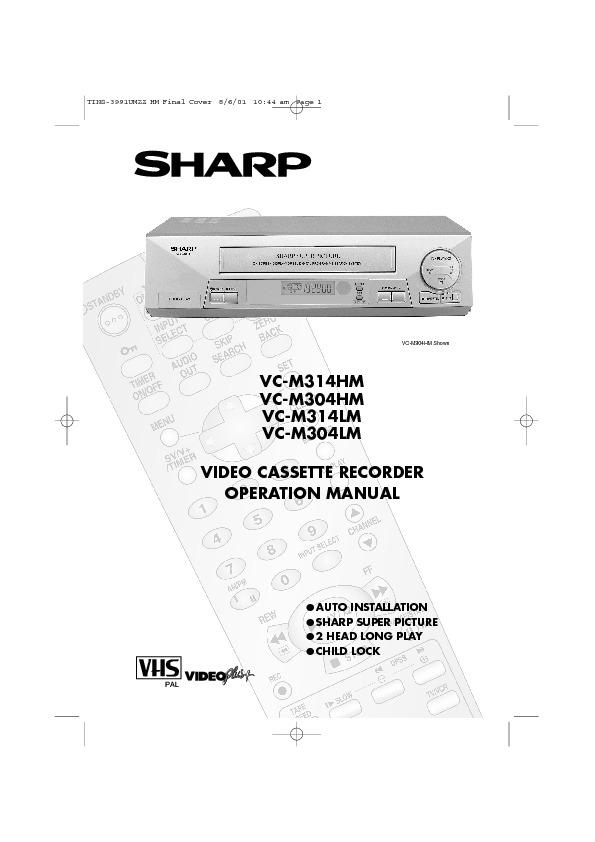 sharp vc m304 serv man7 user guide operation manual free rh servicemanuals us Sharp VCR 4 Head Sharp TV VCR