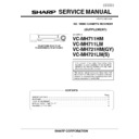 Sharp VC-MH711HM (serv.man2) Service Manual