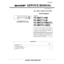 Sharp VC-MH711HM (serv.man6) Service Manual