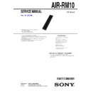 Sony AIR-RM10 Service Manual
