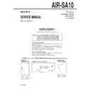 Sony AIR-SA10 Service Manual