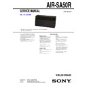 Sony AIR-SA50R Service Manual