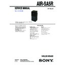 Sony AIR-SA5R Service Manual