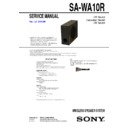 Sony AIR-SW10TI, SA-WA10R Service Manual