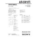 Sony AIR-SW10TI Service Manual