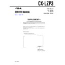 Sony AWP-ZP3, CX-LZP3 (serv.man2) Service Manual