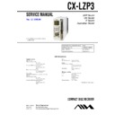 Sony AWP-ZP3, CX-LZP3 Service Manual