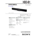 Sony BDV-B1, HBD-B1 Service Manual