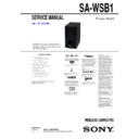 Sony BDV-B1, SA-WSB1 Service Manual
