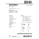 Sony BDV-B1 Service Manual