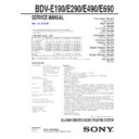 Sony BDV-E190 Service Manual