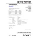 Sony BDV-E280 Service Manual