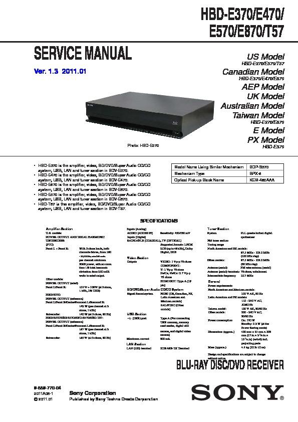 Sony Bdv Manual Guide