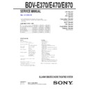 Sony BDV-E370 Service Manual