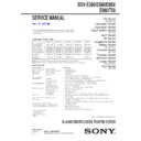 Sony BDV-E380 Service Manual