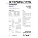 BDV-HZ970W Service Manual