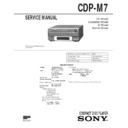 cdp-m7, dhc-md7 service manual