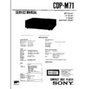 Sony CDP-M71 Service Manual
