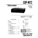 Sony CDP-M72, LBT-D905CD Service Manual