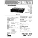 Sony CDP-M78, CDP-M79 Service Manual