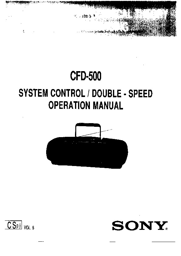 sony cfd-500 service manual