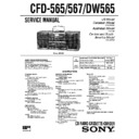 Sony CFD-565, CFD-567, CFD-DW565 Service Manual