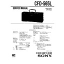 Sony CFD-565L Service Manual