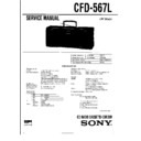 Sony CFD-567L Service Manual