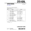 Sony CFD-926L Service Manual