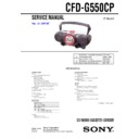 CFD-G550CP Service Manual