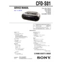 Sony CFD-S01 Service Manual