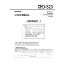 CFD-S23 (serv.man3) Service Manual