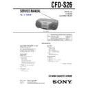cfd-s26 service manual