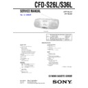 Sony CFD-S26L, CFD-S36L Service Manual