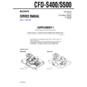 Sony CFD-S400, CFD-S500 (serv.man2) Service Manual
