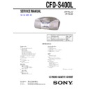 Sony CFD-S400L Service Manual