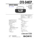 cfd-s40cp service manual
