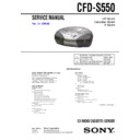 CFD-S550 Service Manual