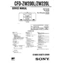 Sony CFD-ZW200L, CFD-ZW220L Service Manual